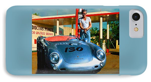 James Dean Filling His Spyder With Gas IPhone Case by Doc Braham