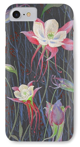 IPhone Case featuring the painting Japanese Flowers by Marina Gnetetsky