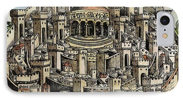 Jerusalem Temple, 1493 IPhone Case by Granger