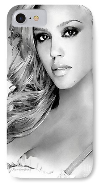 #1 Jessica Alba IPhone 7 Case by Alan Armstrong