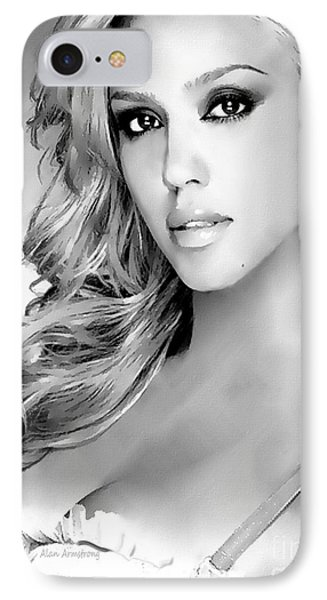 #1 Jessica Alba IPhone Case by Alan Armstrong