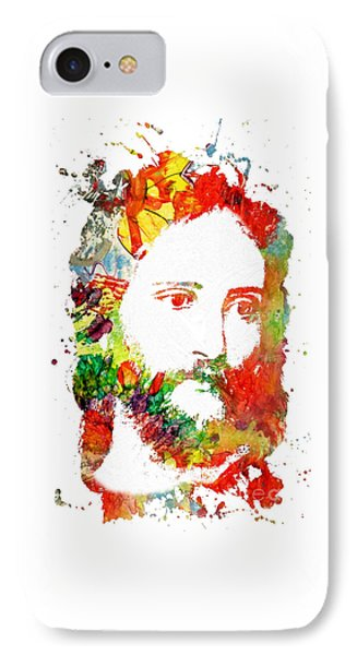 Jesus Christ - Watercolor IPhone Case by Doc Braham
