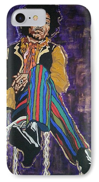 Jimi Hendrix IPhone Case by Rachel Natalie Rawlins