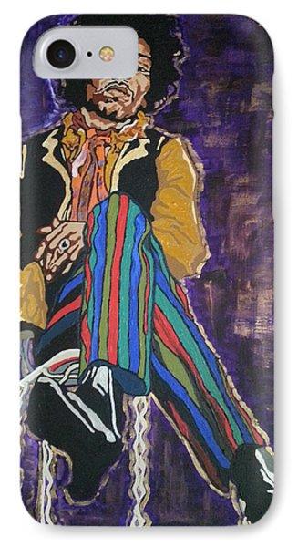Jimi Hendrix Phone Case by Rachel Natalie Rawlins