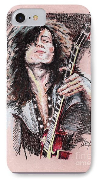 Jimmy Page iPhone 7 Case - Jimmy Page 1 by Melanie D