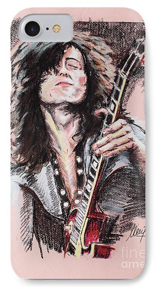 Jimmy Page IPhone 7 Case by Melanie D