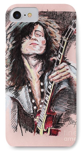 Jimmy Page IPhone Case by Melanie D