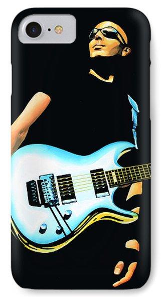 Joe Satriani Painting IPhone Case by Paul Meijering