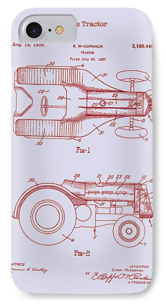 John Deere Tractor Patent 1939 IPhone Case by Mountain Dreams