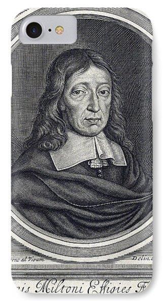 John Milton, English Poet IPhone Case by Folger Shakespeare Library