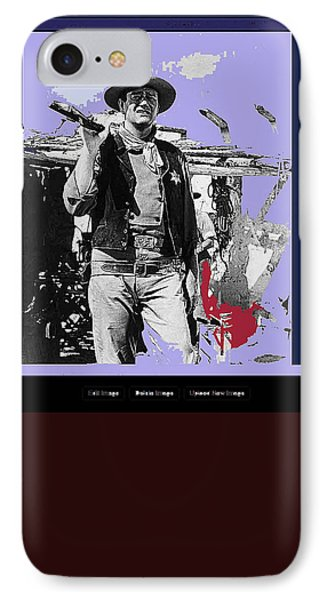 John Wayne Rio Bravo Publicity Photo 1959 Old Tucson Arizona IPhone Case by David Lee Guss