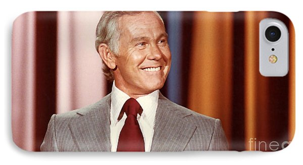 Johnny Carson IPhone 7 Case by Marvin Blaine