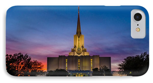 Jordan River Temple Sunset Phone Case by La Rae  Roberts