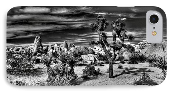 IPhone Case featuring the photograph Joshua Tree Black And White by Benjamin Yeager
