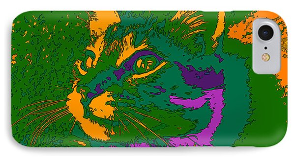 IPhone Case featuring the digital art Jungle Cat by Hanza Turgul