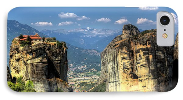 Kalambaka Beneath The Meteora Of Greece IPhone Case by Micah Goff