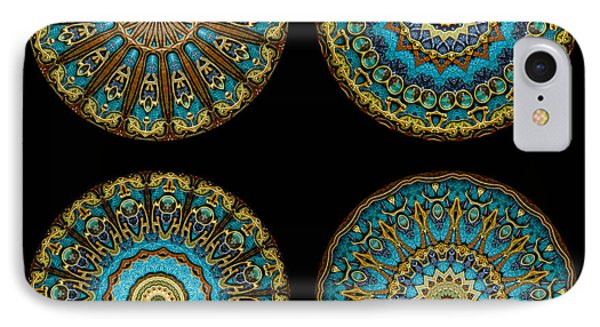 Kaleidoscope Steampunk Series Montage Phone Case by Amy Cicconi