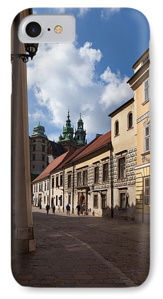 Kanonicza Street And The Archdiocese IPhone Case by Panoramic Images