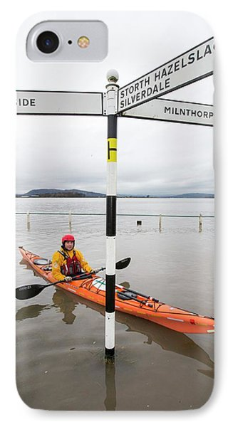 Kayakers In The Flood Waters IPhone Case by Ashley Cooper