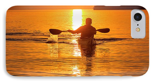Kayaking At Sunset In The Apostle IPhone Case by Chuck Haney