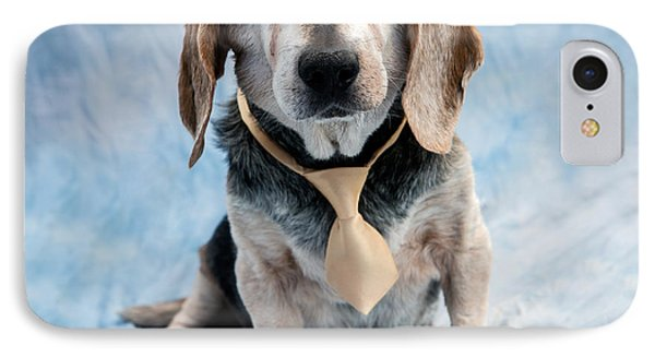 Kippy Beagle Senior And Best Dog Ever IPhone Case by Iris Richardson