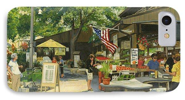Kirkwood Farmers Market American Flag IPhone Case by Don  Langeneckert