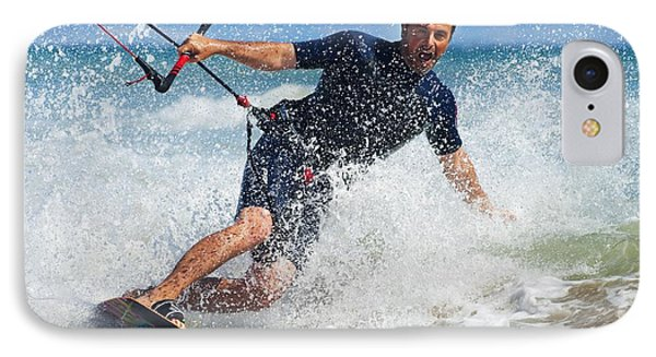 Kite Surfing In Front Of Hotel Dos IPhone Case by Ben Welsh
