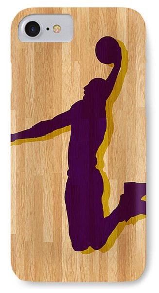 Kobe Bryant Los Angeles Lakers IPhone Case by Joe Hamilton