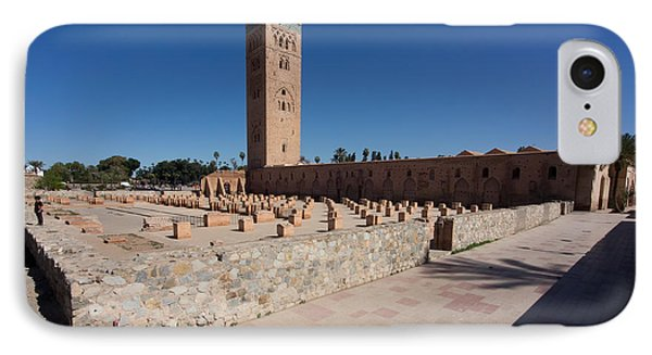 Koutoubia Minaret Built By Yacoub El IPhone Case by Panoramic Images