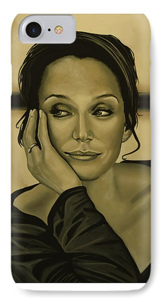 Kristin Scott Thomas IPhone Case by Paul Meijering