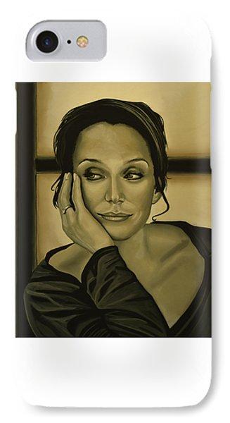 Kristin Scott Thomas Phone Case by Paul Meijering