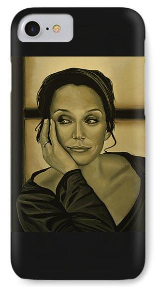 Kristin Scott Thomas IPhone Case by Paul Meijering