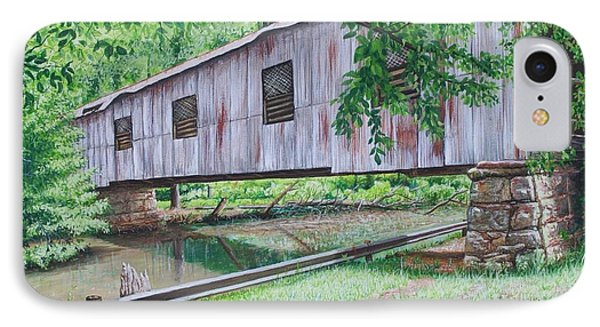 Kymulga Covered Bridge IPhone Case by Mike Ivey