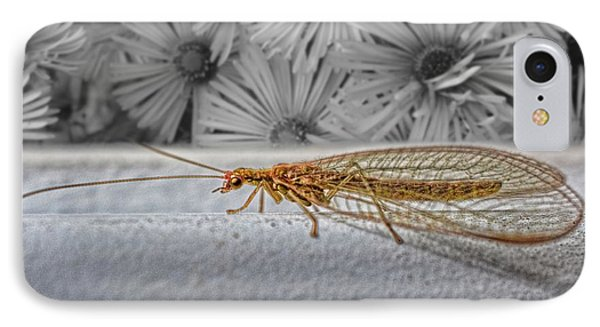 Lacewing Helps In The Garden 2 Phone Case by Henry Kowalski