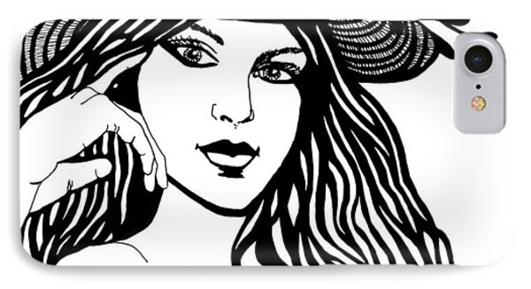 Lady In A Hat IPhone Case