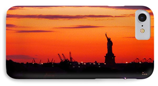Lady Liberty Bids Adieu IPhone Case