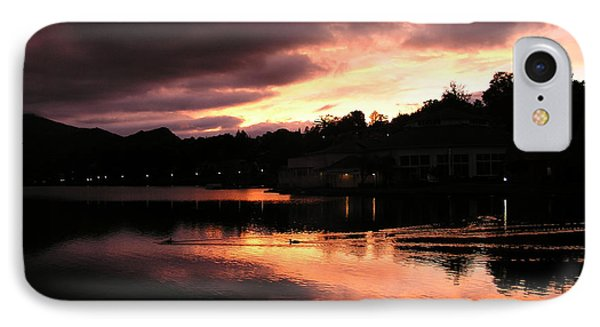 IPhone Case featuring the photograph Lake J Sunset by Craig T Burgwardt