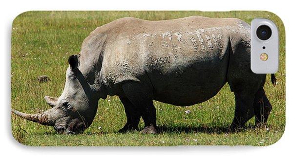 Lake Nakuru White Rhinoceros Phone Case by Aidan Moran