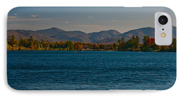 Lake Placid And The Adirondack Mountain Range IPhone Case by Brenda Jacobs