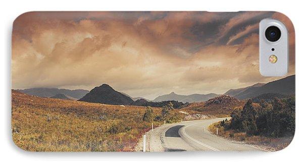 Lake Plimsoll Road. Tasmanian Landscape IPhone Case