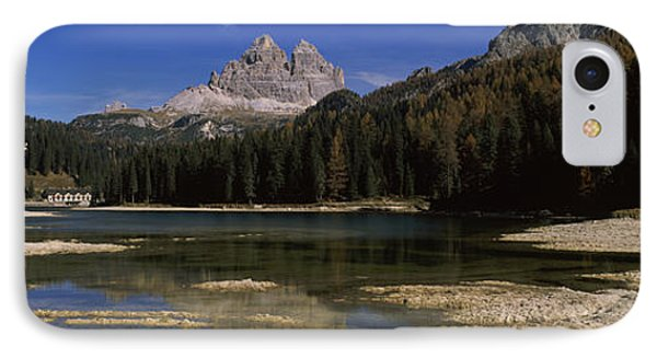 Lake With A Mountain Range IPhone Case by Panoramic Images