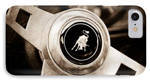 Lamborghini Steering Wheel Emblem Phone Case by Jill Reger