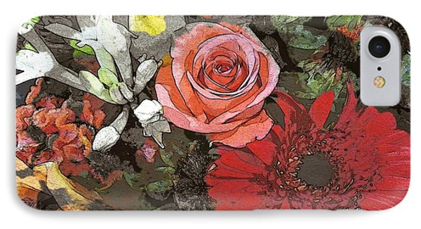 IPhone Case featuring the digital art Lancaster Flowers by Joseph J Stevens