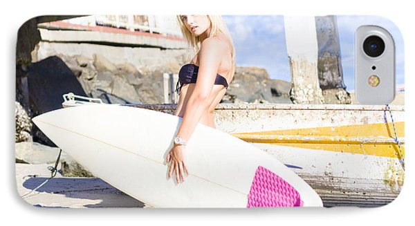 Landscape Surfing Portrait IPhone Case by Jorgo Photography - Wall Art Gallery