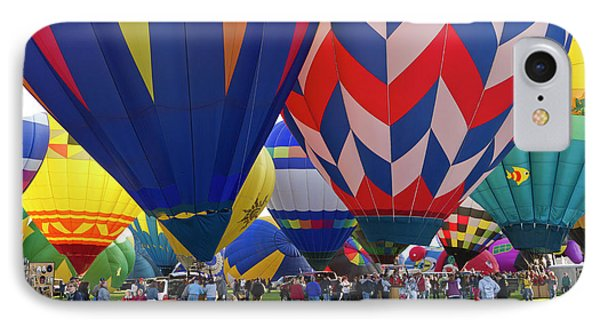 Launch Site At The Albuquerque Hot Air IPhone Case by William Sutton