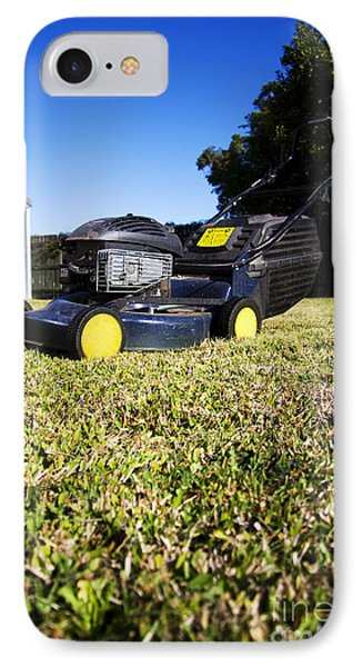 Lawn Mower IPhone Case by Jorgo Photography - Wall Art Gallery