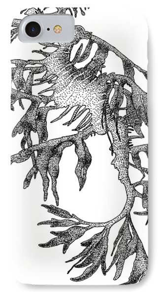 Leafy Sea Dragon IPhone Case by Roger Hall