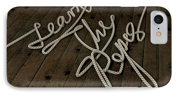 Learn The Ropes Rope Phone Case by Allan Swart