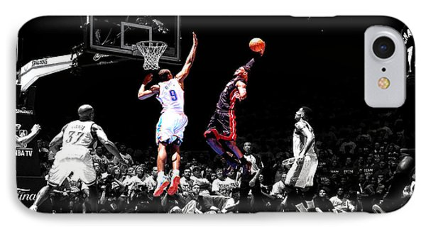 Lebron James IPhone Case by Brian Reaves