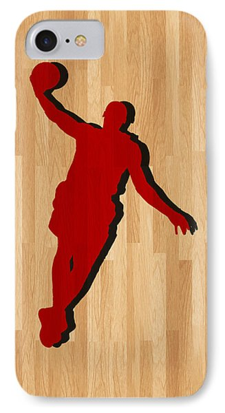 Lebron James Miami Heat IPhone Case by Joe Hamilton